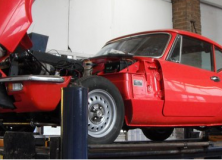 Triumph GT6 initial test drive after winter tune up and service