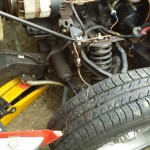 trolley jack under GT6 chassis