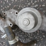Sandblasted water pump and housing for triumph GT6, 2000, 2500 and TR6